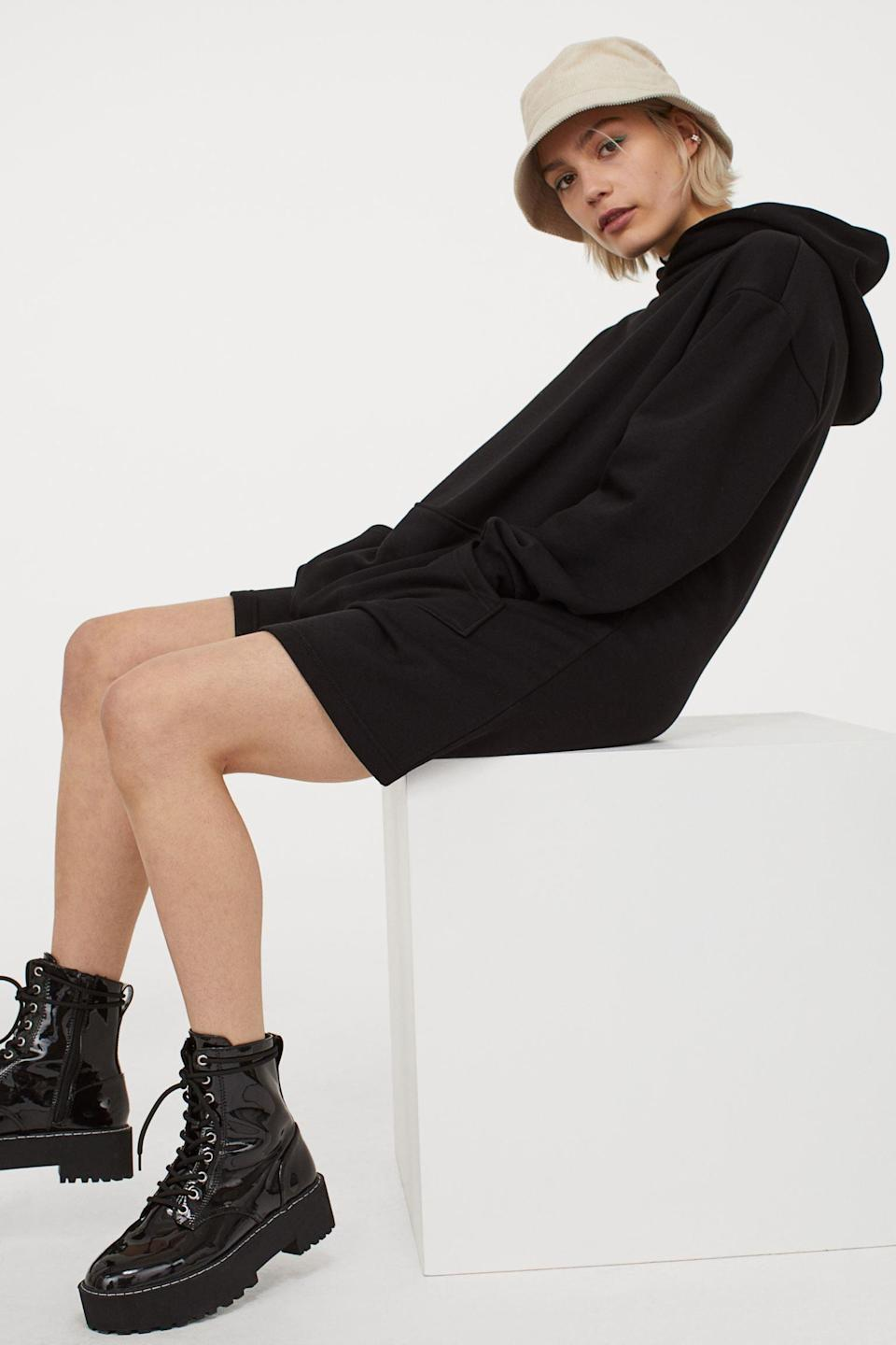 <p>If you prefer to go pants-free, opt for this <span>Hooded Sweatshirt Dress</span> ($25).</p>