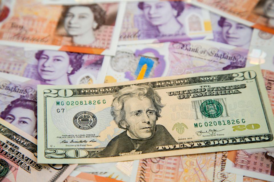 Sterling hit a high of $1.425 against the dollar. Photo: Dinendra Haria/SOPA Images/LightRocket via Getty Images