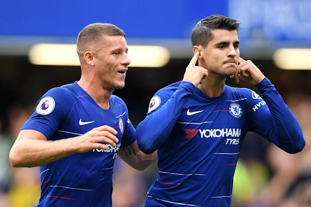 I can't hear you: Alvaro Morata ended his Chelsea goal drought against Arsenal