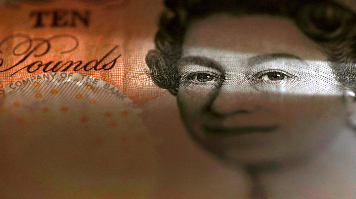 The Queen's face on the ten pound note. Photo: Reuters