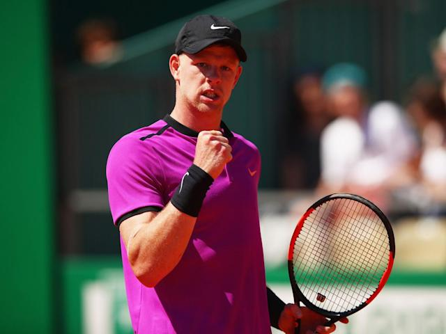 Kyle Edmund beat fellow Briton Dan Evans to set-up a clash with Nadal in Monte Carlo (Getty)