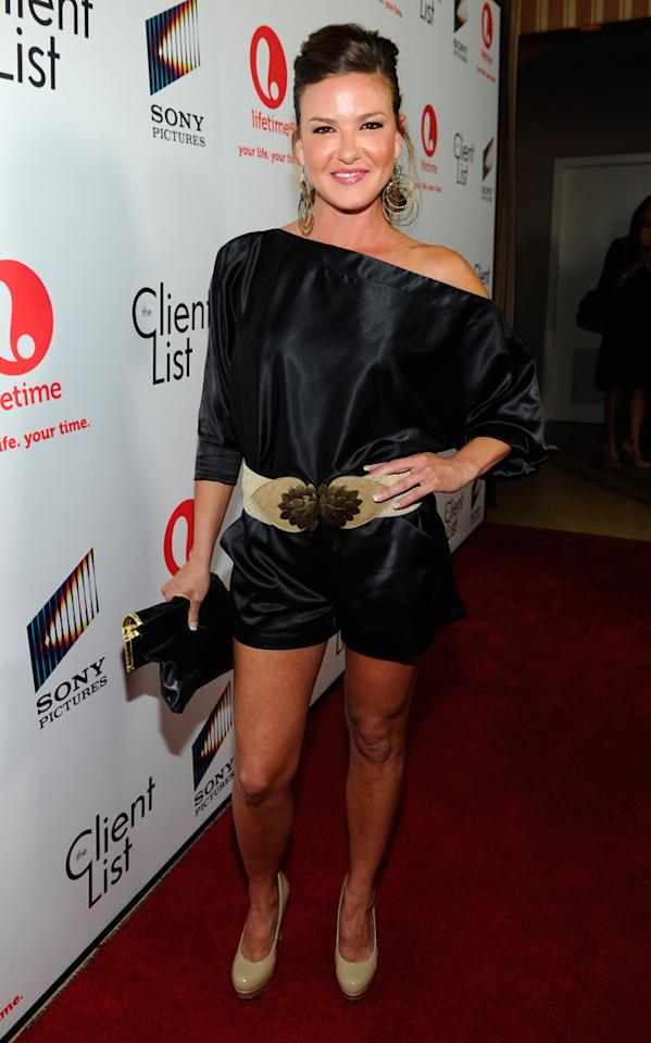 "Alicia Lagano attends the launch party for Lifetime's ""<a href=""http://tv.yahoo.com/client-list/show/47678"">The Client List</a>"" at Sunset Tower on April 4, 2012 in West Hollywood, California."