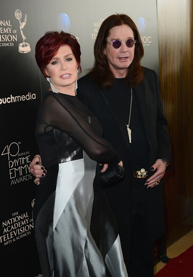 BEVERLY HILLS, CA - JUNE 16:  (L-R) TV personality Sharon Osbourne and musician Ozzy Osbourne attend The 40th Annual Daytime Emmy Awards at The Beverly Hilton Hotel on June 16, 2013 in Beverly Hills, California.  (Photo by Mark Davis/Getty Images)
