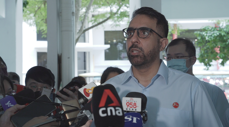 Workers' Party chief Pritam Singh speaking at a media doorstop on Tuesday (7 July). (PHOTO: Nicholas Tan for Yahoo News Singapore)