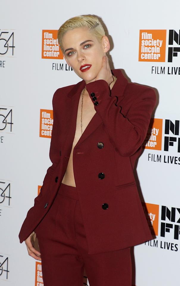 "Kristen Stewart attends the 54th New York Film Festival ""Certain Women"" premiere at Alice Tully Hall, Lincoln Center on October 3, 2016 in New York City. Photo courtesy of Getty Images."