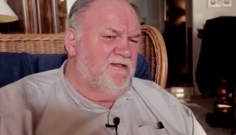 Thomas Markle has accused his daughter, Meghan Markle, of 'cheapening' the royal family. Photo: Channel 5