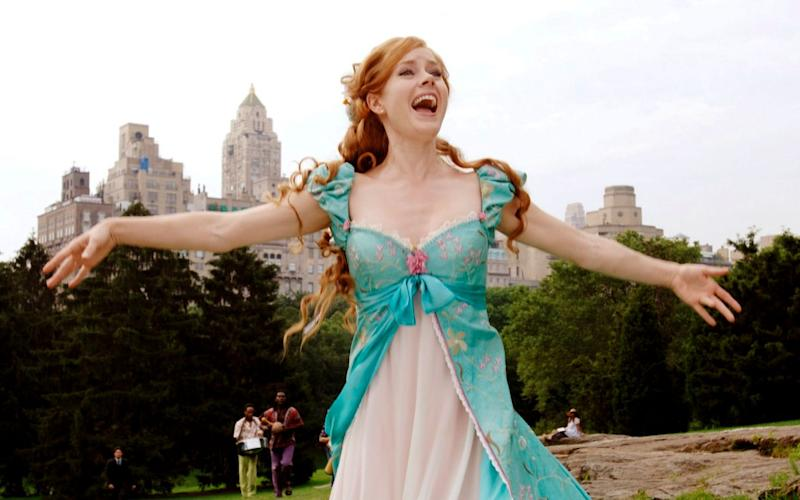 Amy Adams belting out a tune in 'Enchanted' - Credit: Disney