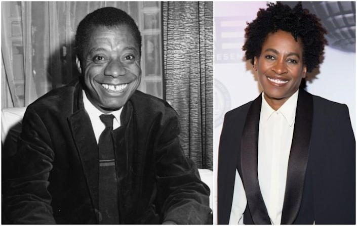 Authors James Baldwin and Jacqueline Woodson. Both are past writers in the MacDowell artists residency program.