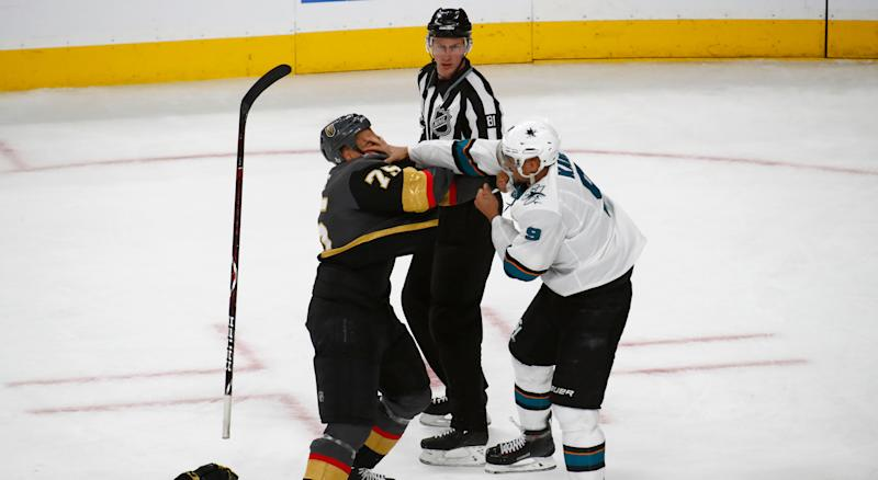 Ryan Reaves and Evander Kane have quite the feud. (Photo by Jeff Speer/Icon Sportswire via Getty Images)