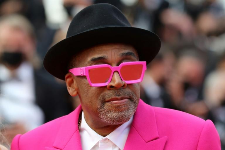 In the pink: Jury director Spike Lee, combative and colourful