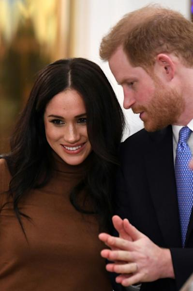Meghan and Harry announced last week they were stepping back from frontline duties (AFP Photo/DANIEL LEAL-OLIVAS)