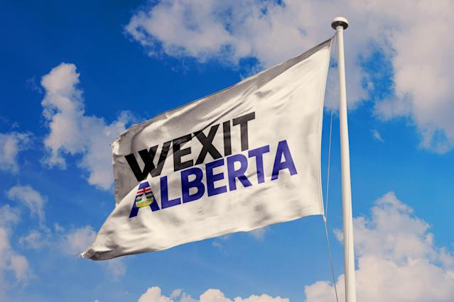 Wexit Alberta flag waving in the sky (Getty Images)