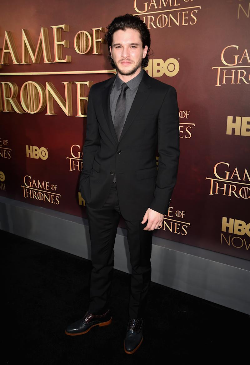 Kit Harington at the premiere of Game of Thrones season five in San Francisco, California, March 2015.