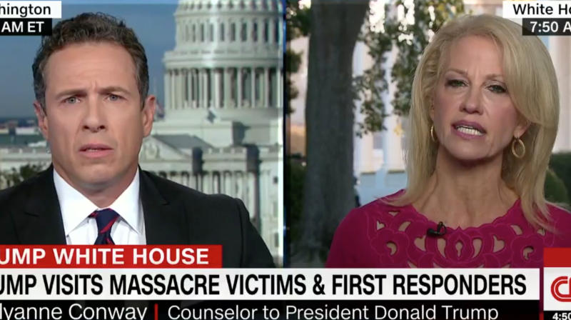 Kellyanne Conway's Rambling Nonsense May Have Broken Chris Cuomo