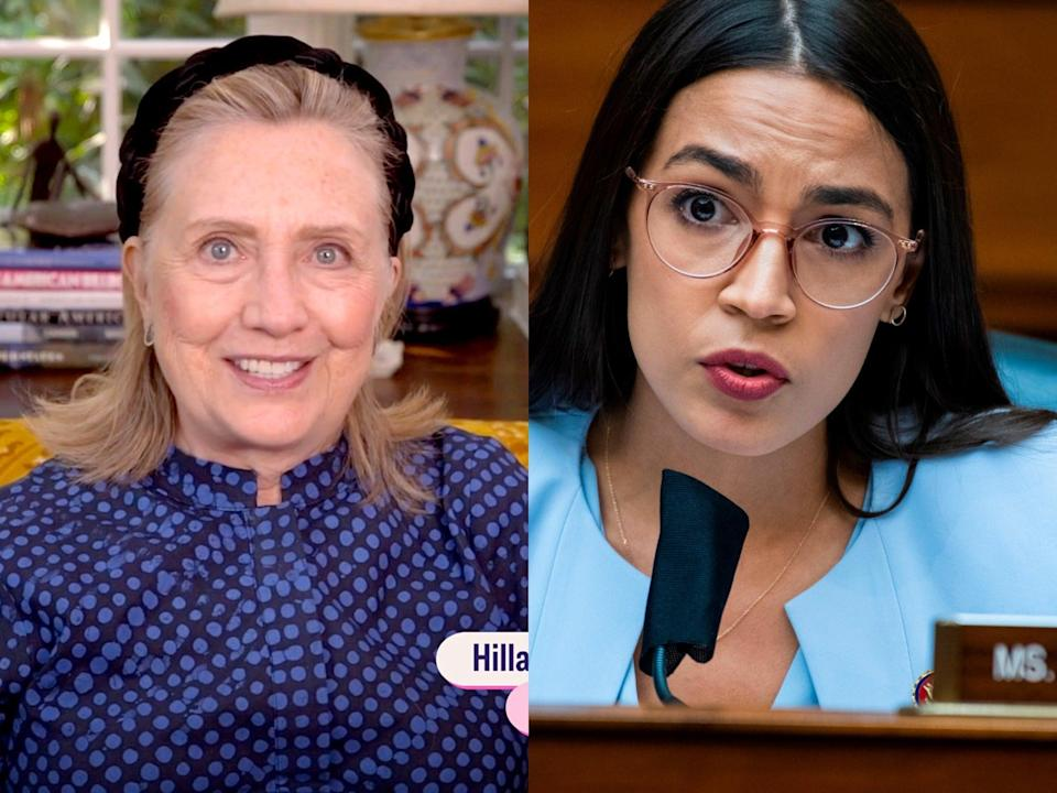 Hillary Clinton and AOC back opposing candidates in Ohio (Getty)