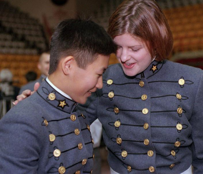 One of Justice Ruth Bader Ginsburg's most famous Supreme Court opinions opened the doors of Virginia Military Institute to students such as Chih-Yuan Ho and Melissa Kay Graham, the first two women to graduate in 1999.