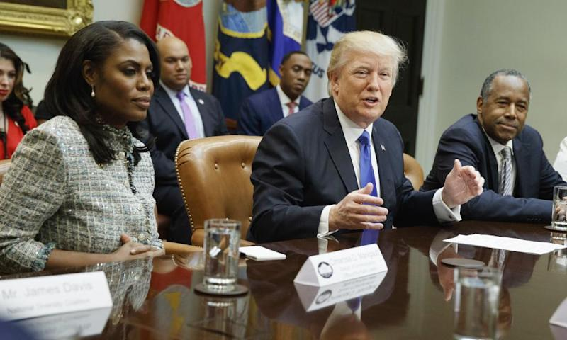 Omarosa Manigault Newman at a meeting with Donald Trump at the White House on 1 February 2017.