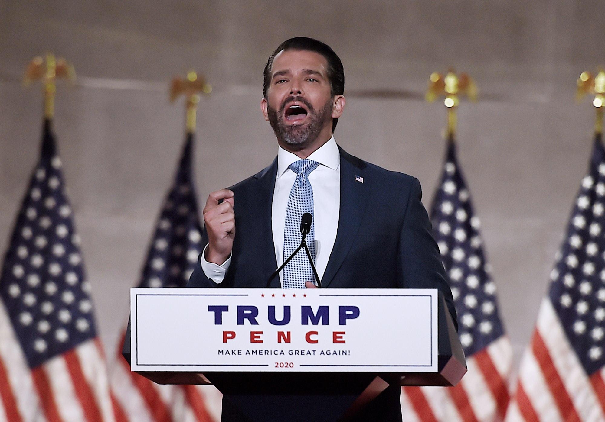 Donald Trump Jr says US allies are relieved at his father's defeat as it means they can go back to 'taking advantage of America'