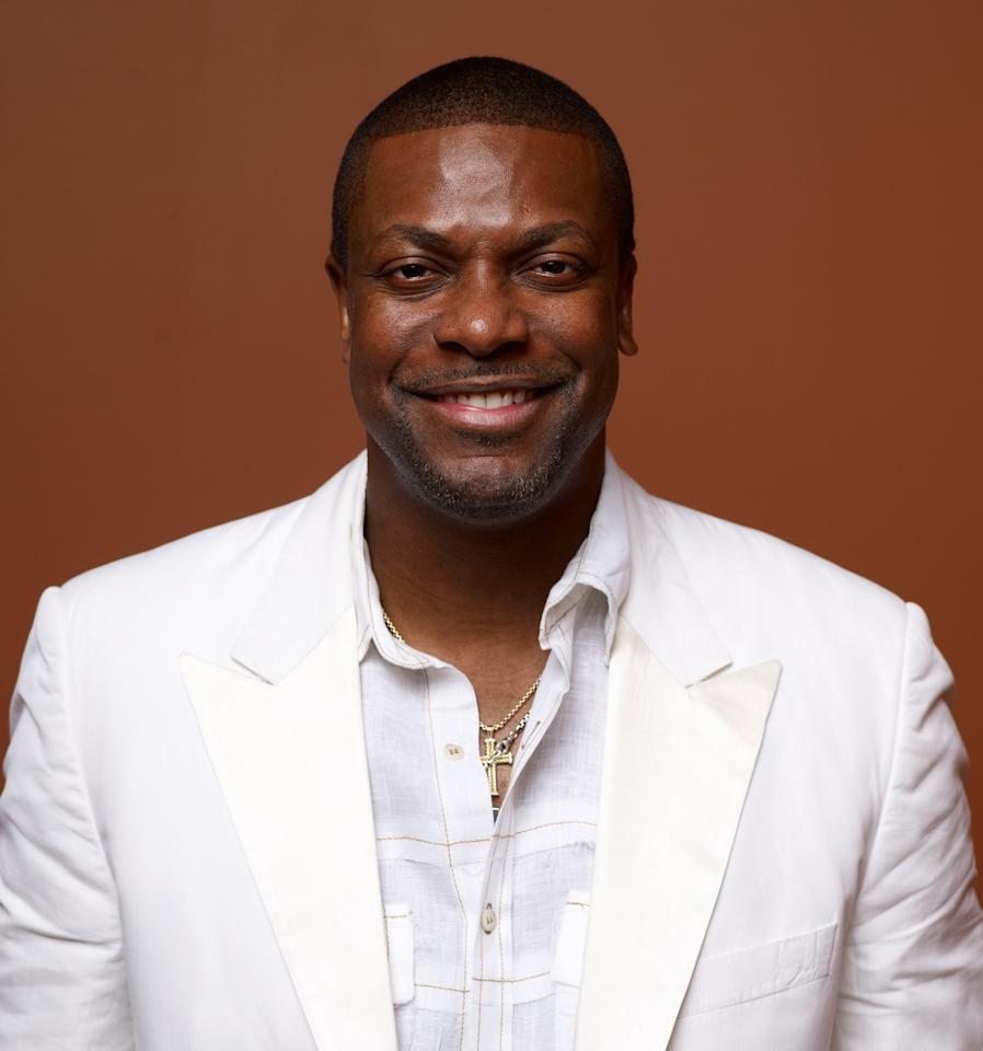 """TORONTO, ON - SEPTEMBER 09:  Actor Chris Tucker of """"Silver Lining Playbook"""" poses at the Guess Portrait Studio during 2012 Toronto International Film Festival on September 9, 2012 in Toronto, Canada.  (Photo by Matt Carr/Getty Images)"""