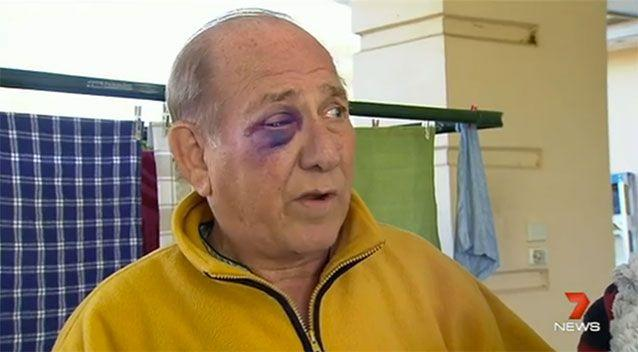 John was beaten for his actions. Source: 7 News
