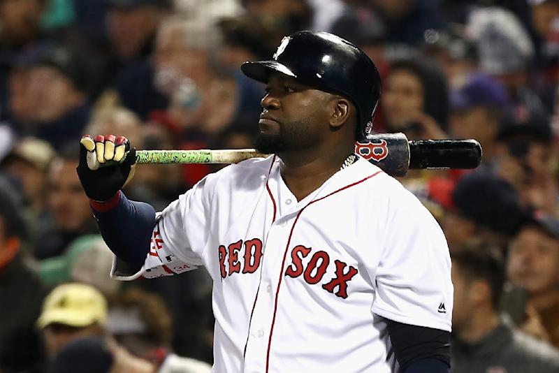 "David Ortiz (pictured October 2016) was moved out of intensive care and ""remains in good condition"""