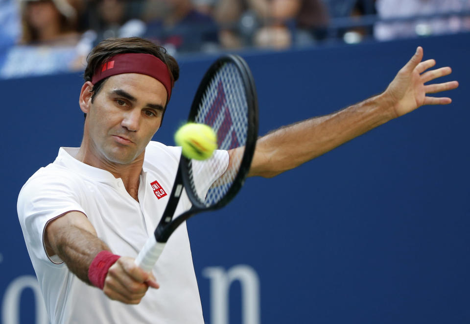 Roger Federer declined an invitation to play in a Saudi tennis exhibition in December. (AP)
