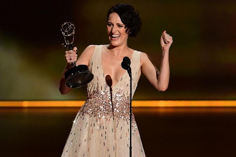 Phoebe Waller-Bridge accepts the Outstanding Lead Actress in a Comedy Series award for 'Fleabag' during the 71st Emmy Awards at the Microsoft Theatre in Los Angeles on 22 September, 2019: FREDERIC J BROWN/AFP/Getty Images
