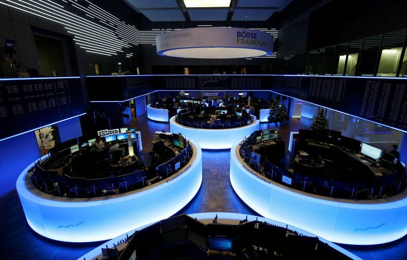 The trading floor of Frankfurt's stock exchange is pictured after the last trading day in Frankfurt, Germany December 28, 2018. REUTERS/Ralph Orlowski