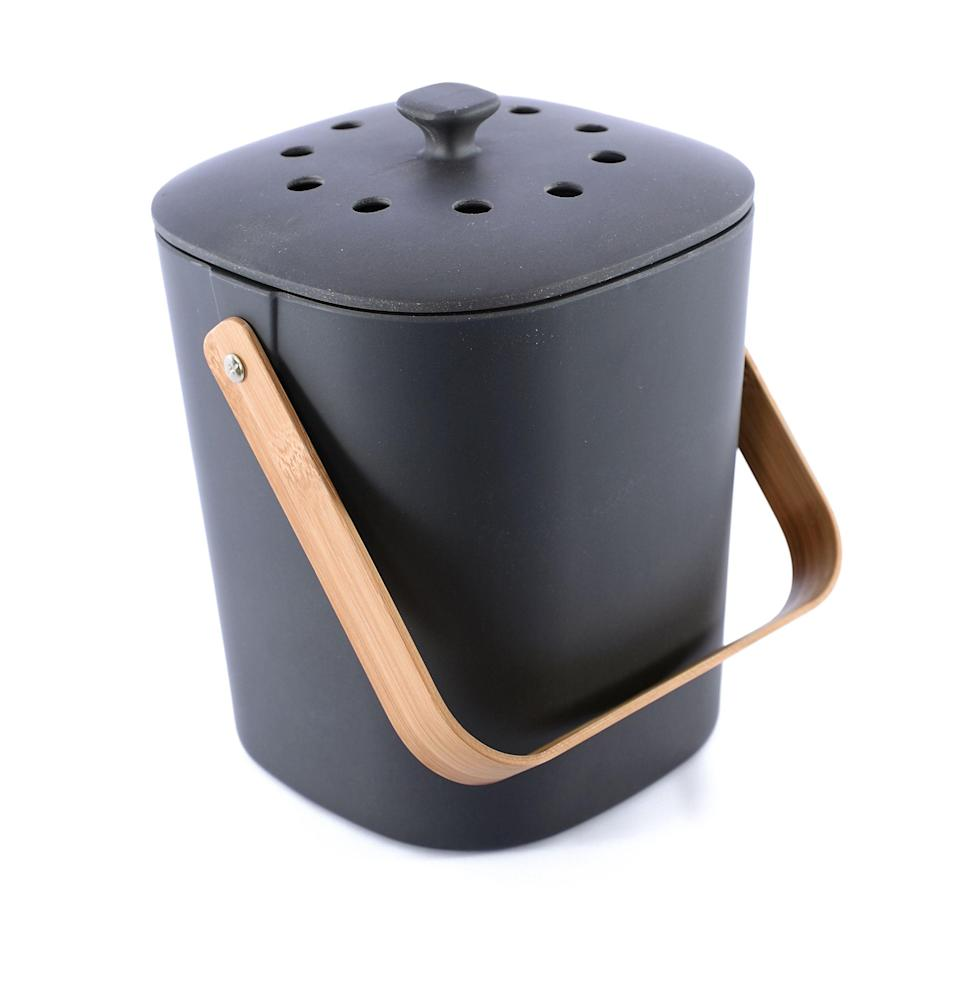 """<p><strong>Bamboo Composter</strong></p><p>huckberry.com</p><p><strong>$31.98</strong></p><p><a href=""""https://go.redirectingat.com?id=74968X1596630&url=https%3A%2F%2Fhuckberry.com%2Fstore%2Fbamboo-composter%2Fcategory%2Fp%2F62610-countertop-composter&sref=https%3A%2F%2Fwww.esquire.com%2Flifestyle%2Fg2121%2Fmothers-day-gift-guide%2F"""" rel=""""nofollow noopener"""" target=""""_blank"""" data-ylk=""""slk:Buy"""" class=""""link rapid-noclick-resp"""">Buy</a></p><p>Better for the houseplants and garden, better for the earth: a kitchen composter that doesn't look (or smell) like a composter.</p>"""