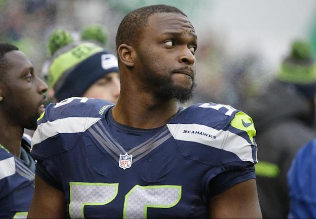 "Seattle Seahawks' Cliff Avril is one of several NFL players of Haitian descent who took umbrage with President Trump's recent ""shithole"" comments. (AP)"