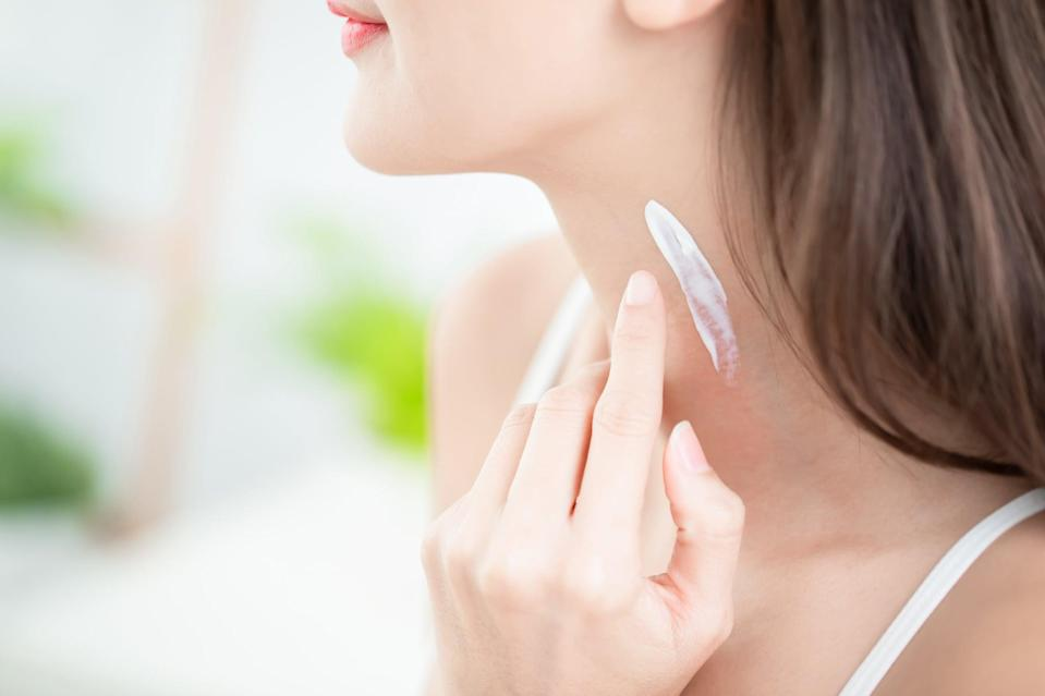 "<p>For many people, their skin-care routine ends at the jaw and their body-care routine begins at the chest, leaving the neck completely forgotten. ""The neck is a thinner, more delicate skin than that of the face, and therefore, requires special care and attention from the skin-care products that you use,"" said Dr. Marchbein. ""It also has fewer oil glands and is more prone to showing signs of aging such as sagging, sun spots, and fine lines.""</p> <p>The same products you use on your face can be used on your neck, as long as they're not too irritating.</p>"