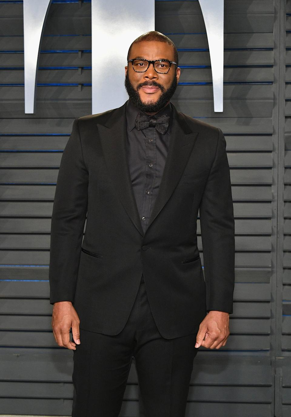 BEVERLY HILLS, CA - MARCH 04: Tyler Perry attends the 2018 Vanity Fair Oscar Party hosted by Radhika Jones at Wallis Annenberg Center for the Performing Arts on March 4, 2018 in Beverly Hills, California.  (Photo by Dia Dipasupil/Getty Images)