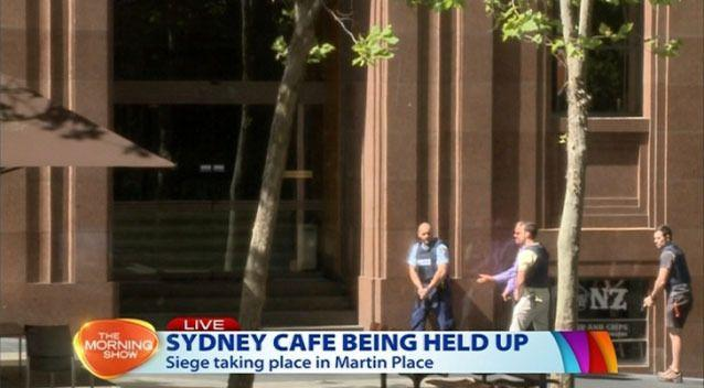 Siege situation in Martin Place. Image: 7News