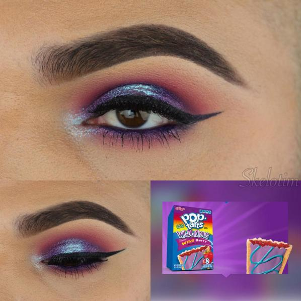 This makeup artist uses his favourite snacks as beauty inspiration