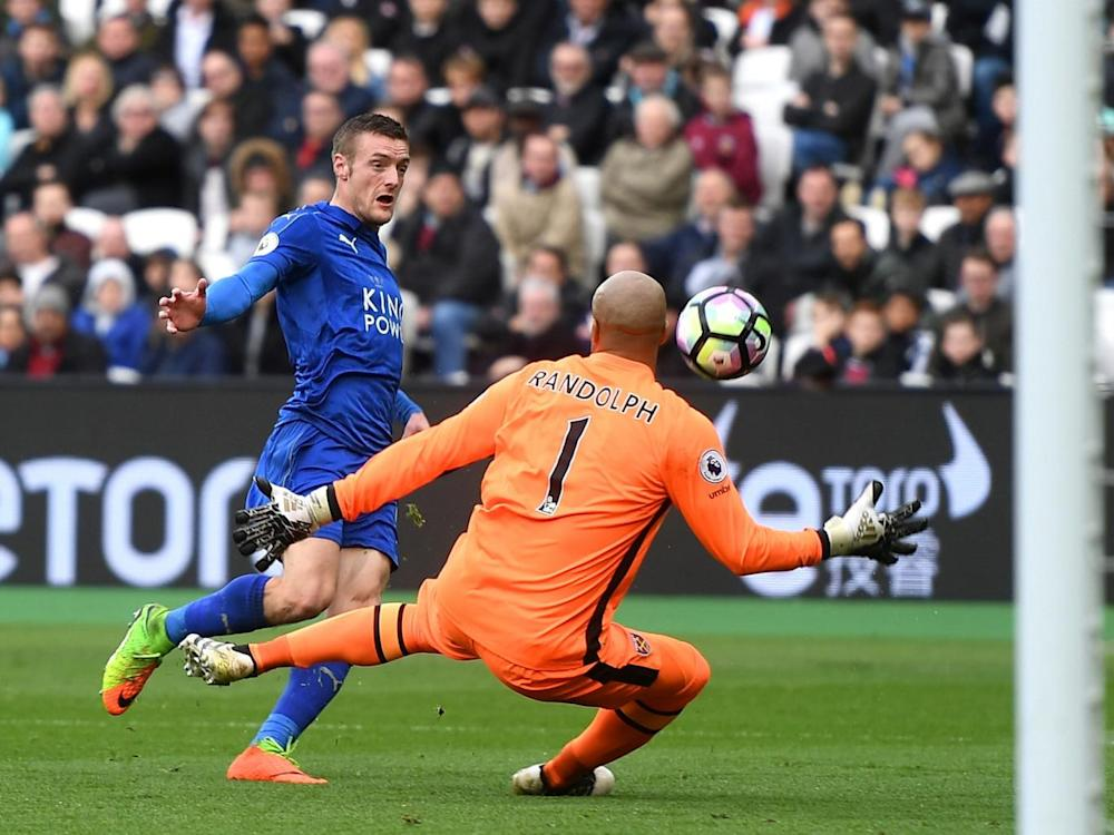 Vardy restored Leicester's two-gal advantage (Getty)