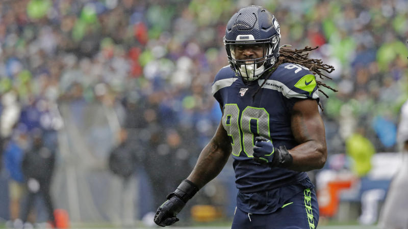 Seattle Seahawks outside linebacker Jadeveon Clowney will be in high demand. (AP Photo/Elaine Thompson)