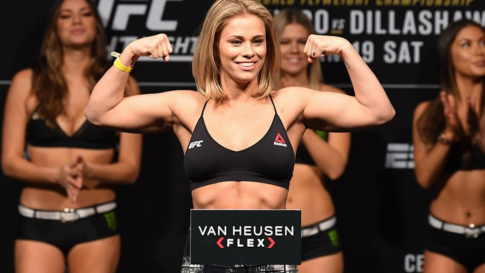Paige VanZant, pictured here before UFC Fight Night Brooklyn in 2019.