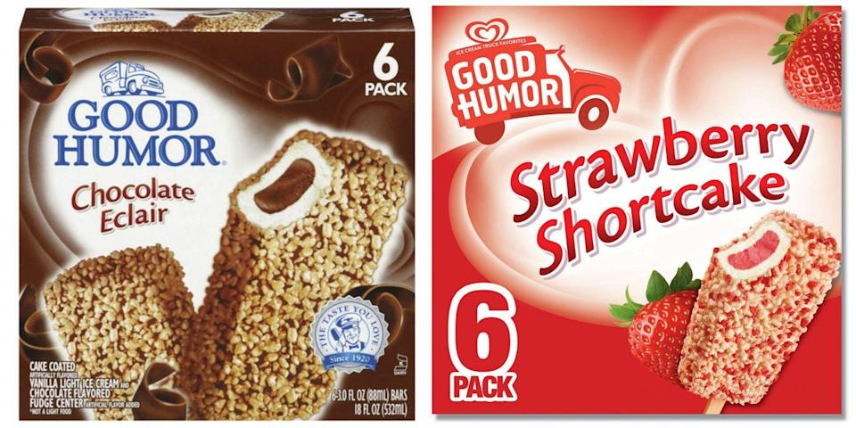 """<p>The company is credited with being the first to create ice cream pops — it's thanks to <a href=""""/food-news/a47233/facts-about-good-humor-ice-creams/"""" data-ylk=""""slk:Good Humor"""" class=""""link rapid-noclick-resp"""">Good Humor</a> that we can eat frozen treats like Strawberry Shortcake bars without becoming a sticky mess ... most of the time.</p>"""