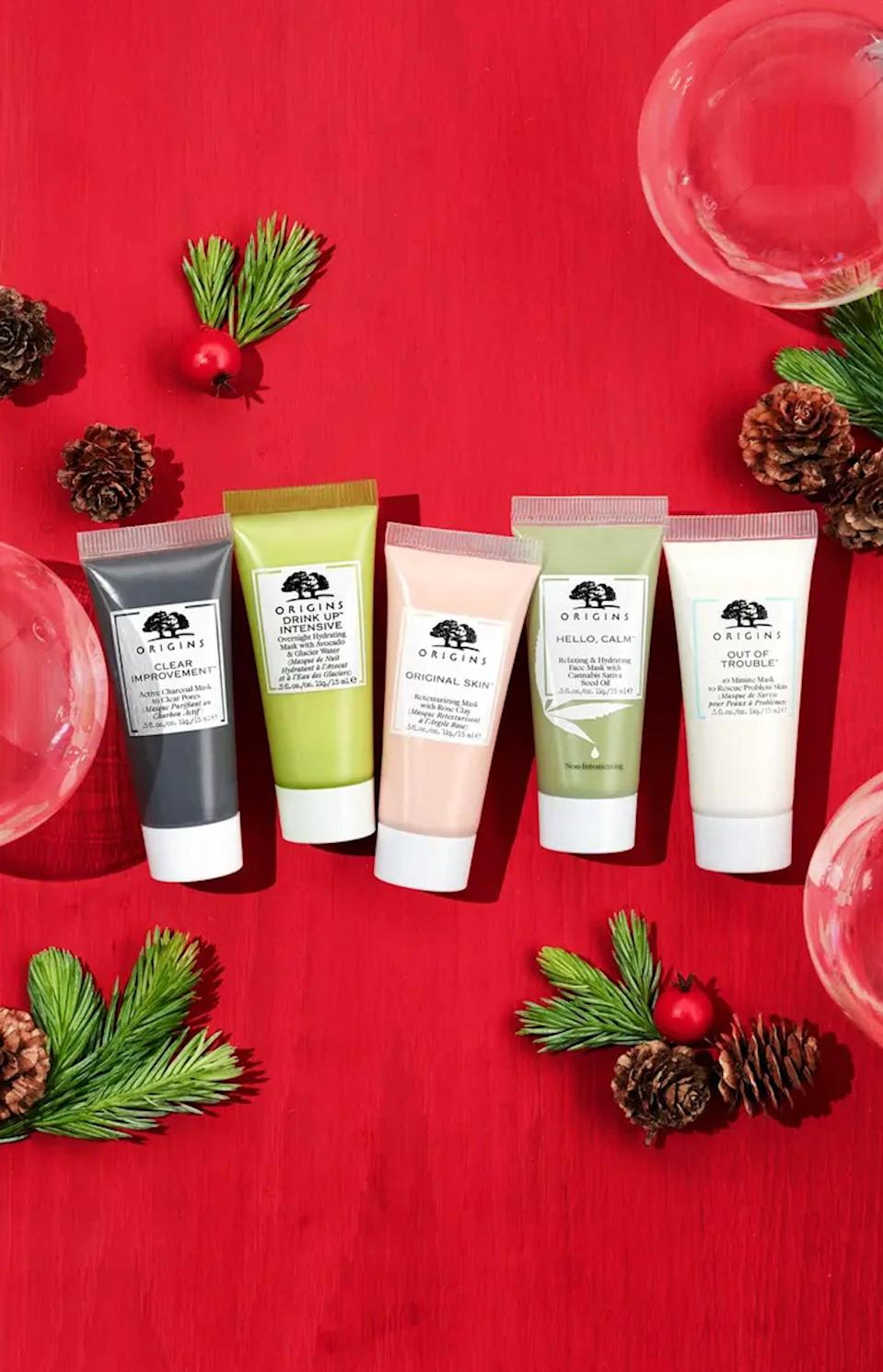 <p>We all know someone who needs this <span>Origins Mask Delights Travel Size Mask Essentials Set</span> ($20).</p>