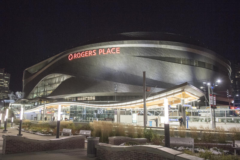EDMONTON, AB - OCTOBER 12: The Exterior of Rogers Place on October 12, 2016 at in Edmonton, Alberta, Canada (Photo by Andy Devlin/NHLI via Getty Images)