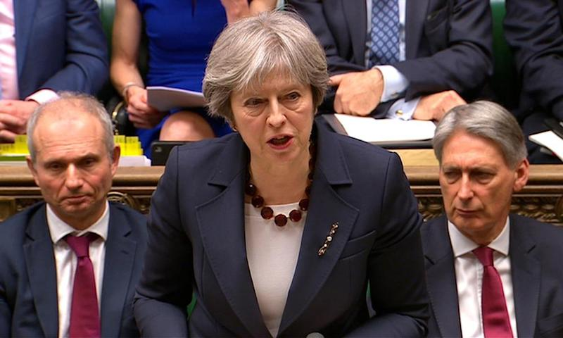 Theresa May addresses the House of Commons on her government's reaction to the poisoning of former Russian intelligence officer Sergei Skripal and his daughter Yulia in Salisbury.