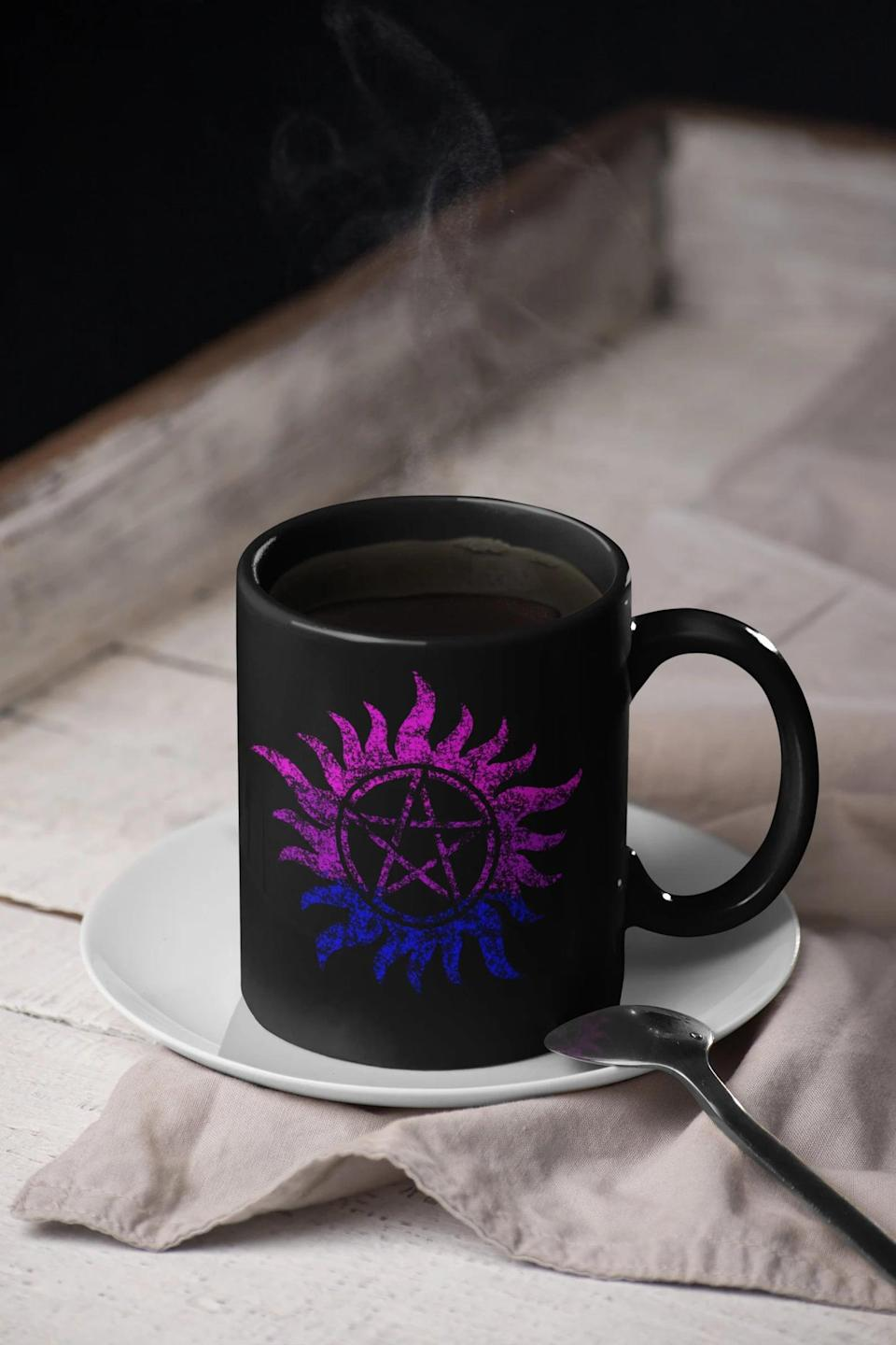 <p>Keep them protected with this <span>Anti Possession Symbol Mug</span> ($18). They'll absolutely love drinking their morning coffee in this mug. </p>
