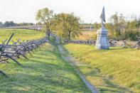 """<p><a href=""""https://www.nps.gov/anti/index.htm"""" rel=""""nofollow noopener"""" target=""""_blank"""" data-ylk=""""slk:Antietam National Battlefield"""" class=""""link rapid-noclick-resp""""><strong>Antietam National Battlefield </strong></a></p><p>In this tragic spot, 23,000 soldiers were killed or wounded in the span of one awful day during the midst of the Civil War. </p>"""