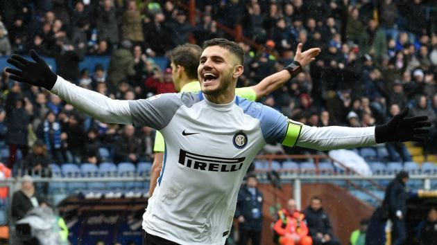 <p>Inter star Icardi exceeds 100 Serie A goals with four against Sampdoria</p>