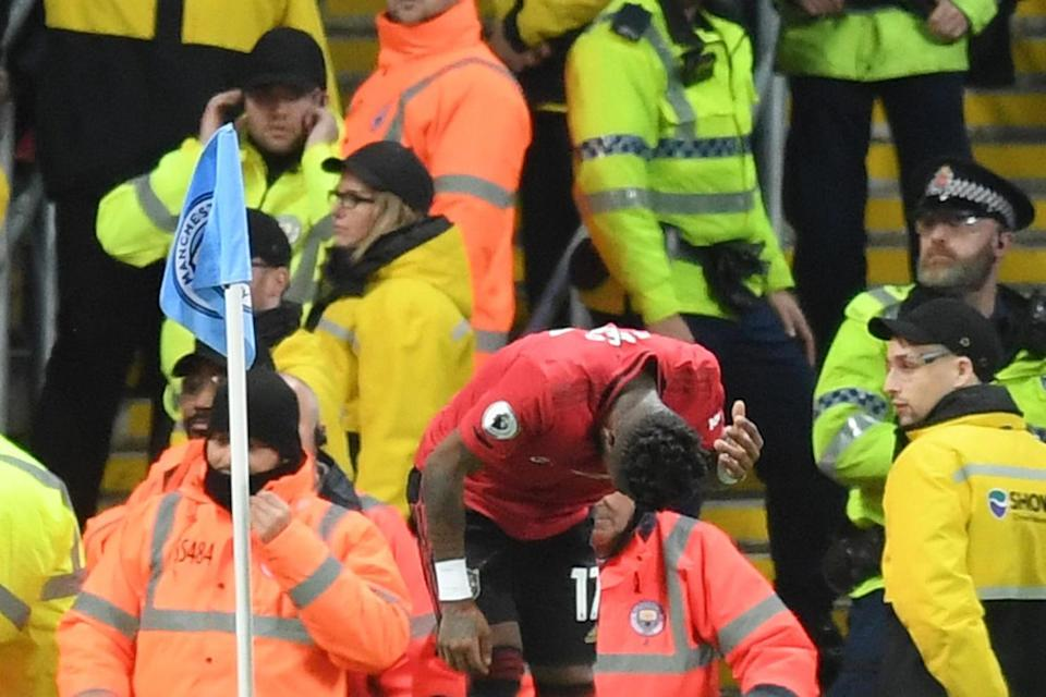 Fred was hit by an object before being allegedly racially abused (Getty Images)