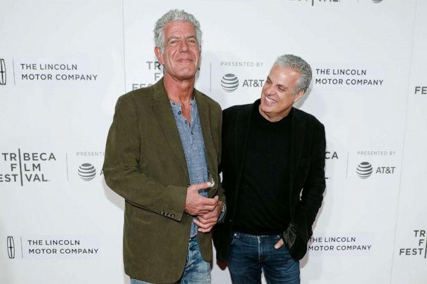 PHOTO: Anthony Bourdain and Eric Ripert attend the premiere of 'Wasted!' during the 2017 Tribeca Film Festival at Borough of Manhattan Community College on April 22, 2017 in New York City. (Taylor Hill/Getty Images)