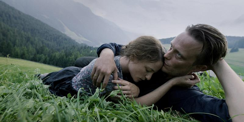 Valerie Pachner and August Diehl star as an Austrian farming couple separated from each other by the Nazis in the World War II drama