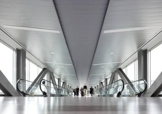 Newcomers are expected to arrive in bigger numbers at the Halifax Stanfield International Airport between now and the end of the year as travel restrictions ease. (Halifax International Airport Authority - image credit)