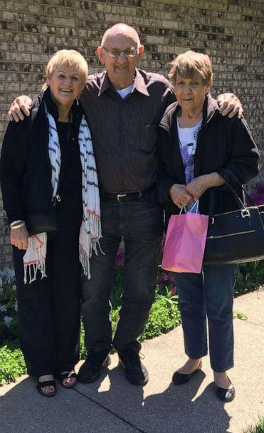 PHOTO: Irene Rosipajla, right, pictured with siblings, sister, Joan Goehler and, brother, Dicky Rzcuidlo, who has since passed. (Courtesy The Naypauer Family)