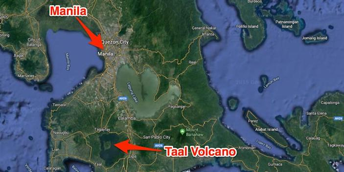 Taal Volcano map